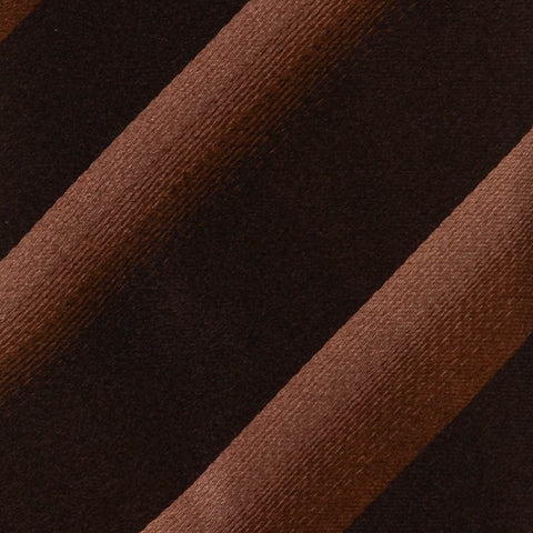 KITON Hand-Roll Seven Fold Unlined Brown Striped Silk Tie NEW - SARTORIALE - 4