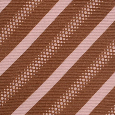 KITON Hand Made Brown Striped Silk Seven Fold Tie NEW