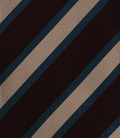 KITON Hand Made Multi - Color Striped Silk Seven Fold Tie NEW - SARTORIALE - 4