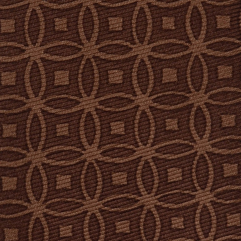 KITON Hand Made Seven Fold Brown Circle Medallion Silk Tie NEW - SARTORIALE - 4