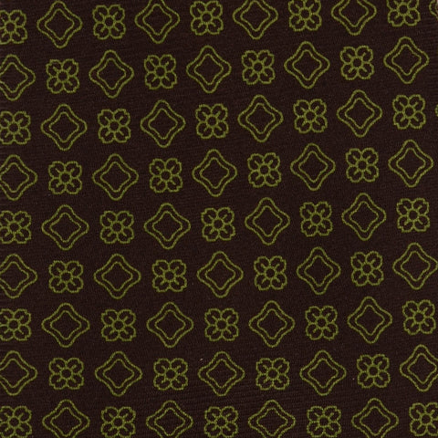 KITON Hand Made Seven Fold Brown Medallion Silk Tie NEW - SARTORIALE - 4