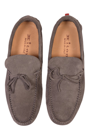 KITON NAPOLI Gray Suede Loafers Driving Car Shoes Moccasins NEW ART 005 - SARTORIALE - 2