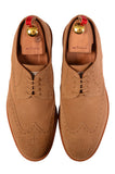 KITON NAPOLI Beige Suede Brogue Derby Buck Wingtip Shoes UK 9 NEW US 10 - SARTORIALE - 2