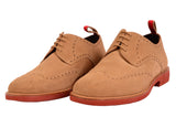 KITON NAPOLI Beige Suede Brogue Derby Buck Wingtip Shoes UK 9 NEW US 10 - SARTORIALE - 3