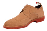 KITON NAPOLI Beige Suede Brogue Derby Buck Wingtip Shoes UK 9 NEW US 10 - SARTORIALE - 4
