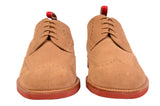 KITON NAPOLI Beige Suede Brogue Derby Buck Wingtip Shoes UK 9 NEW US 10 - SARTORIALE - 5