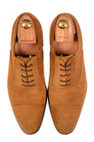 KITON NAPOLI Handmade Suede Captoe Oxford Dress Shoes UK 8.5 NEW US 9.5 - SARTORIALE - 2