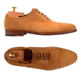 KITON NAPOLI Handmade Suede Captoe Oxford Dress Shoes UK 8.5 NEW US 9.5 - SARTORIALE - 1