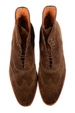 KITON NAPOLI Brown Suede Wingtip Crepe Sole Military Boots Shoes UK 10 NEW US 11 - SARTORIALE - 2