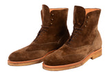 KITON NAPOLI Brown Suede Wingtip Crepe Sole Military Boots Shoes UK 10 NEW US 11 - SARTORIALE - 3