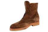 KITON NAPOLI Brown Suede Wingtip Crepe Sole Military Boots Shoes UK 10 NEW US 11 - SARTORIALE - 4