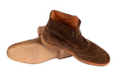KITON NAPOLI Brown Suede Wingtip Crepe Sole Military Boots Shoes UK 10 NEW US 11 - SARTORIALE - 6