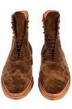 KITON NAPOLI Brown Suede Wingtip Crepe Sole Military Boots Shoes UK 10 NEW US 11 - SARTORIALE - 5