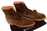 KITON NAPOLI Brown Suede Wingtip Crepe Sole Military Boots Shoes UK 10 NEW US 11 - SARTORIALE - 9