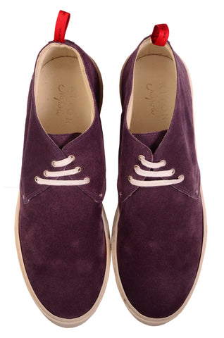 KITON NAPOLI Purple Suede Leather Casual Chukka Boots Shoes 9 NEW US 10 - SARTORIALE - 2