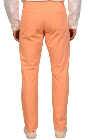 KITON NAPOLI Orange Lightweight Cotton Casual Jeans Pants IT 48 NEW US 32