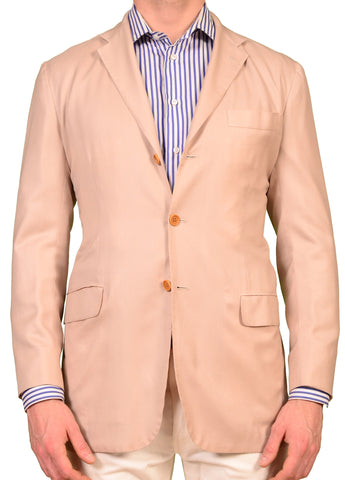 KITON Napoli Beige Cashmere-Silk Summer Unconstructed Jacket 50 NEW US 40 M - SARTORIALE - 1