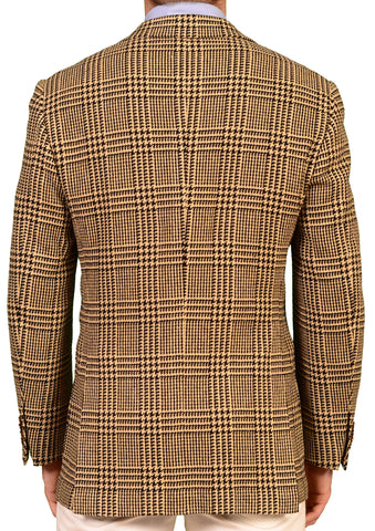KITON Napoli Beige Plaid Silk-Cotton Jacket US 38 40 NEW EU 50 R9 Slim Fit - SARTORIALE - 2