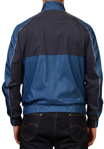 KITON Napoli Blue Silk Dual Zip Yachting Bomber Jacket EU 50 NEW US 40