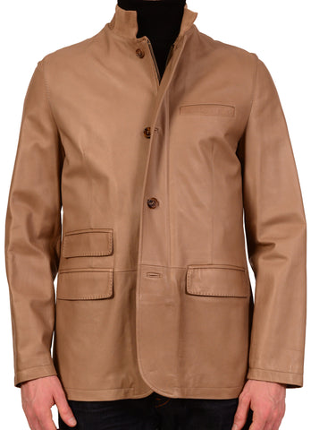 KITON Napoli Brown Leather Soft Jacket Dual Zip EU 50 NEW US 38 40 - SARTORIALE - 1