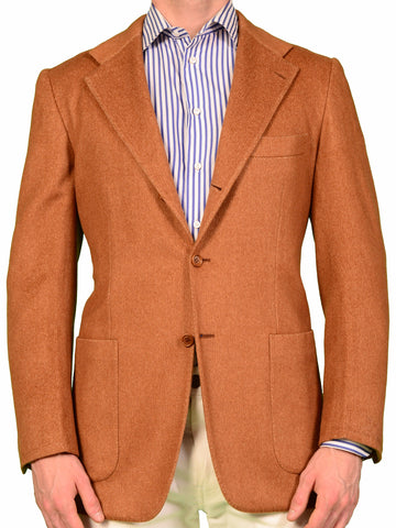 KITON Napoli Brown Pure Cashmere Blazer Unconstructed Jacket 38 40 NEW 50 R8 - SARTORIALE - 1