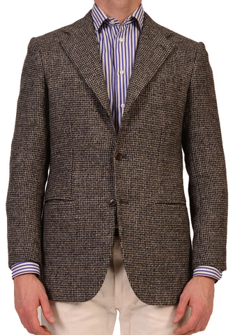 "KITON Napoli ""CIPA 1960"" Gray Plain Weave Jacket US 36 38 NEW EU 48 R9 - SARTORIALE - 1"