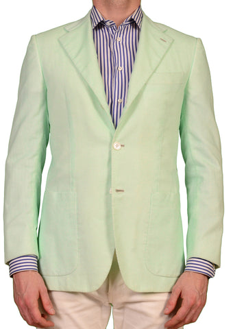 "KITON Napoli ""CIPA 1960"" Green Cotton Jacket EU 48 NEW US 36 38 Slim R9 - SARTORIALE - 1"