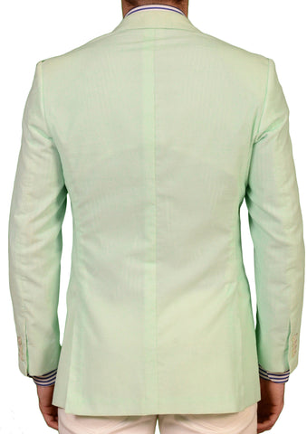 "KITON Napoli ""CIPA 1960"" Green Cotton Jacket EU 48 NEW US 36 38 Slim R9 - SARTORIALE - 2"