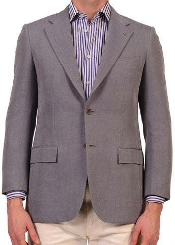 "KITON Napoli ""CIPA 1960"" Light Blue Cotton Jacket EU 48 NEW US 38 R8 Slim - SARTORIALE - 1"