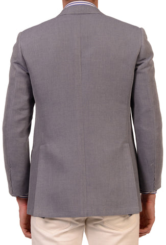 "KITON Napoli ""CIPA 1960"" Light Blue Cotton Jacket EU 48 NEW US 38 R8 Slim - SARTORIALE - 2"