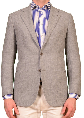 "KITON Napoli ""CIPA 1960"" Light Gray Wool Jacket US 38 NEW EU 48  Slim R9 Fit - SARTORIALE - 1"