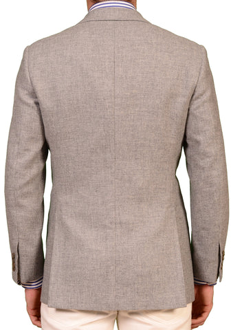 "KITON Napoli ""CIPA 1960"" Light Gray Wool Jacket US 38 NEW EU 48  Slim R9 Fit - SARTORIALE - 2"