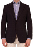 "KITON Napoli ""CIPA 1960"" Purple Velvet Peak Lapel Jacket US 38 40 NEW EU 50 R9 S - SARTORIALE - 1"
