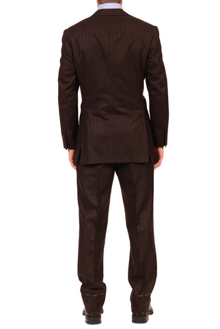 KITON Napoli Charcoal Brown Striped Pure Cashmere Suit US 38 40 NEW EU 50 R7 - SARTORIALE - 2