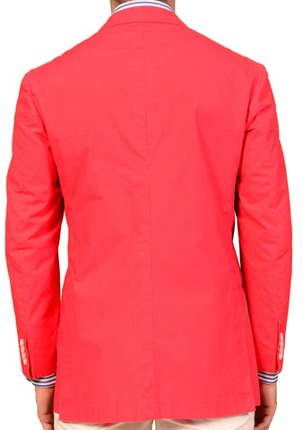 KITON Napoli Coral Red Cotton Garment Dyed Unconstructed Jacket NEW S-M 48 - SARTORIALE - 2