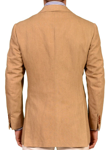 KITON Napoli Dark Tan Cotton-Linen Blazer Summer Jacket EU 50 NEW US 38 40 R7 - SARTORIALE - 2