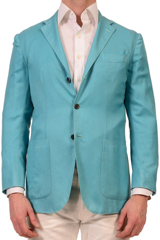 KITON Napoli Garment Dyed Blue Cashmere-Silk Unconstructed Jacket 40 NEW 50 M R7 - SARTORIALE - 1