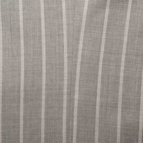 KITON Napoli Gray Striped Wool Super 180's Silk Business Suit 50 NEW US 40 Slim