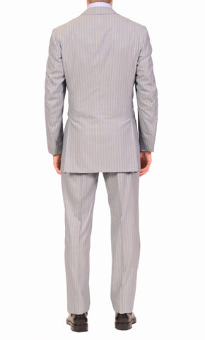 KITON Napoli Gray Super 180's 14 Micron Wool-Silk Suit EU 50 NEW US 40 Long - SARTORIALE - 2