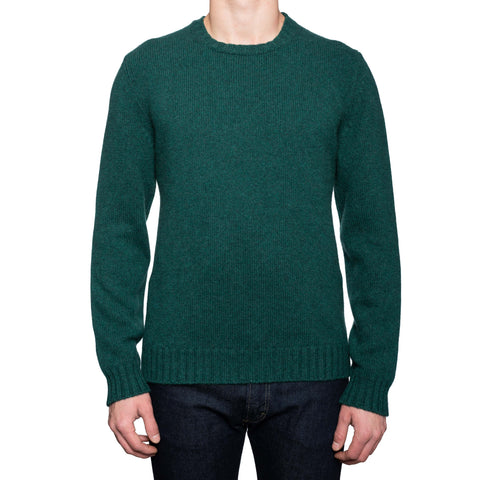 KITON Napoli Green Cashmere Knit Crewneck Sweater EU 50 NEW US M