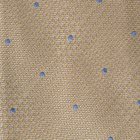 KITON Napoli Hand-Made Seven Fold Beige Plaid Silk Tie NEW