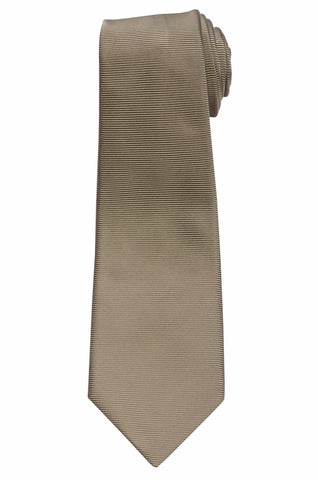KITON Napoli Hand-Made Seven Fold Beige Textured Satin Silk Tie NEW