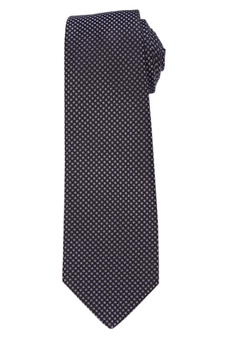KITON Napoli Hand-Made Seven Fold Black Shepherd Check Silk Tie NEW