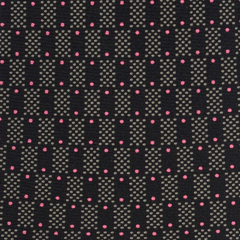 KITON Napoli Hand-Made Seven Fold Black Silk Tie NEW