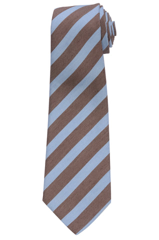 KITON Napoli Hand-Made Seven Fold Blue Textured Diagonal Striped Silk Tie NEW