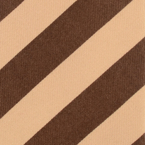 KITON Napoli Hand-Made Seven Fold Brown-Beige Striped Cashmere Tie NEW