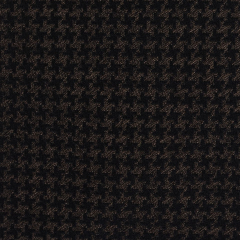 KITON Napoli Hand-Made Seven Fold Brown-Black Sheperd's Check Silk Tie NEW