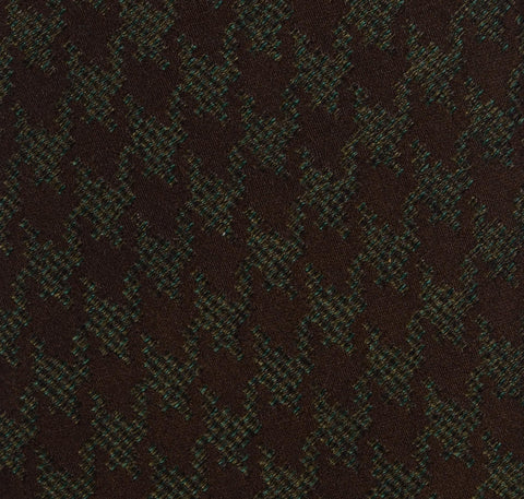 KITON Napoli Hand-Made Seven Fold Brown-Green Silk Tie NEW