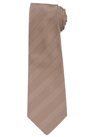 KITON Napoli Hand-Made Seven Fold Brown Herringbone Striped Silk Tie NEW