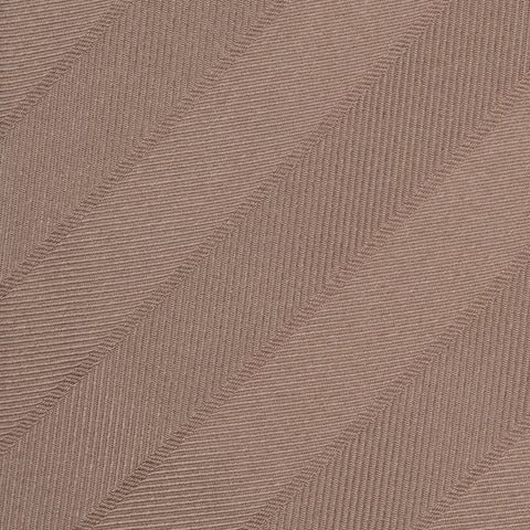 KITON Napoli Hand-Made Seven Fold Beige Herringbone Striped Silk Tie NEW